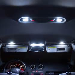 Car Lighting Package 7 Pcs Xenon White Car Led Interior Lights Package Kit For