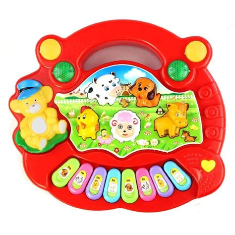 early education  year olds baby toy animal farm piano