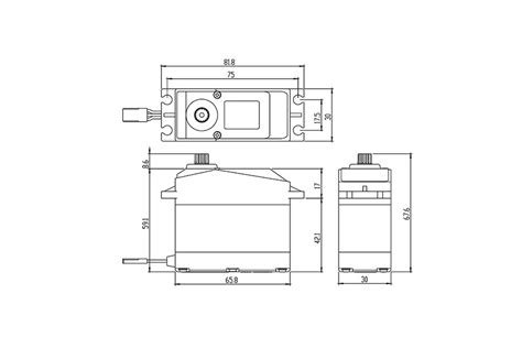 Savox Sv0236mg Servo 40kg Speed 0 17 savox waterproof jumbo high voltage digital servo 40kg 0 17s 7 4v sav sw0241mg