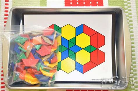 pattern block trays 72 best images about learning trays on pinterest