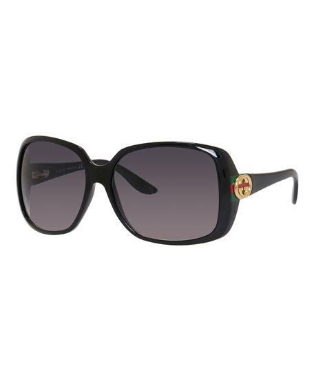Square Oversized Sunglasses Black gucci sunsights oversized square sunglasses black