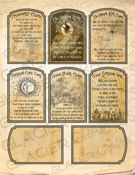 Template For Fortune Teller Card by Witch Spell Cards Fortune Teller Tag Witch