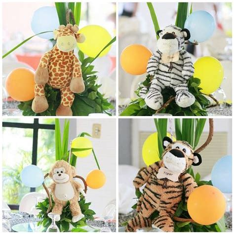 Safari Centerpieces For Baby Shower by Stuffed Animal Table Centerpieces Baby Shower Jungle Animals Shower