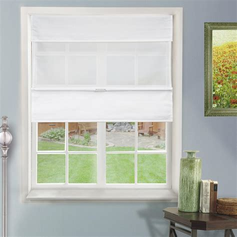 light blocking roman shades chicology 31 in w x 64 in l daily white light filtering