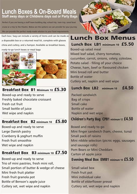 Hedleys Lunchbox Menus Buffet Catering Sandwich Bar Hometown Buffet Lunch Menu