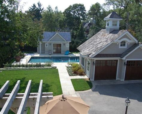 Garage Pool House Plans Garage And Pool House Houzz