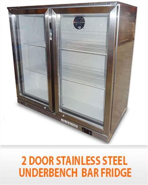 2 door under bench fridge new fully stainless steel 2 door under bench bar beer
