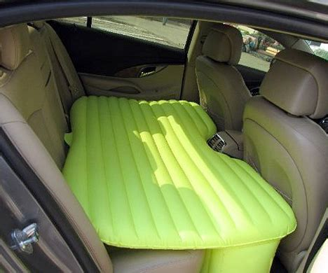 inflatable backseat bed inflatable car mattress turns your backseat into a bed
