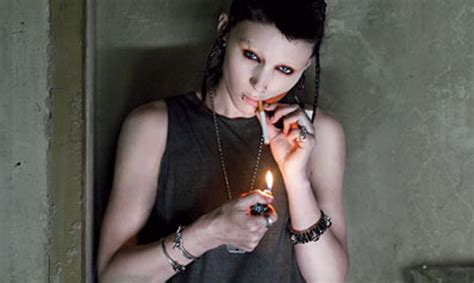 rooney mara dragon tattoo with the earrings h m