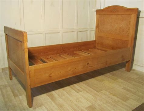 Single Sleigh Bed Pine Single Sleigh Bed Lit Bateau 239655 Sellingantiques Co Uk