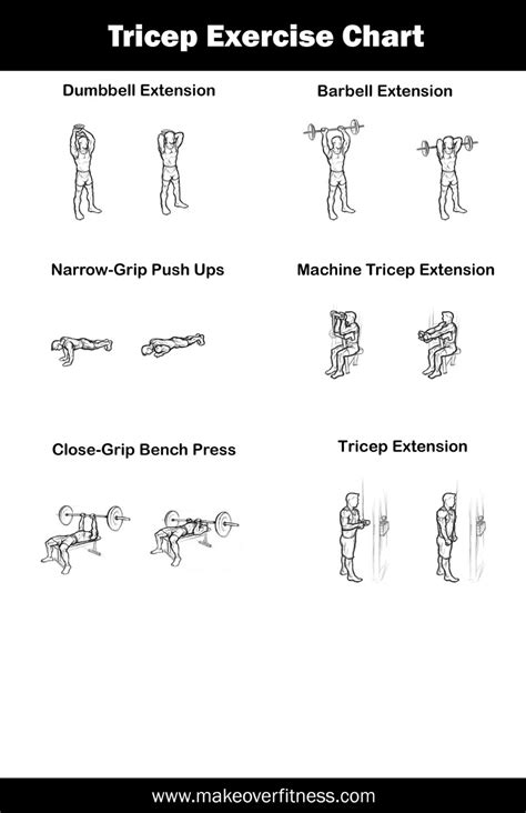 printable tricep exercise chart