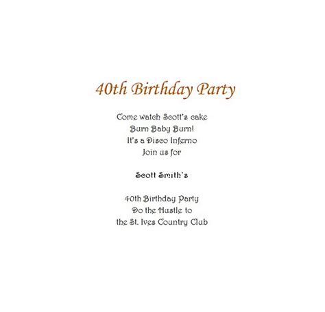 40th birthday invites templates s 40th birthday invitation 8 wording free