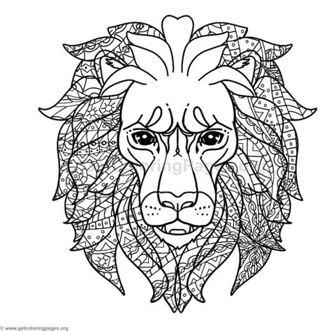 coloring page of lion head lion head coloring pages getcoloringpages org