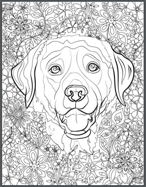 De Stress With Dogs Downloadable 10 Page Coloring Book