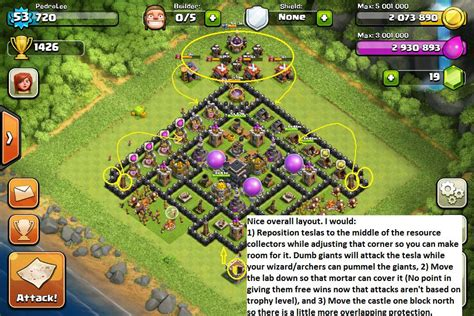 best layout strategy for clash of clans image clash of clans air defence strategy jpg clash of