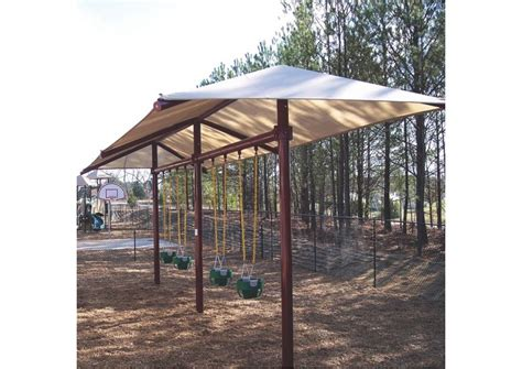 i swing my beat at the playground single post swing with shade cover pro playgrounds the