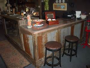 kitchen bar top ideas rusted corrugated metal with a concrete top could bring
