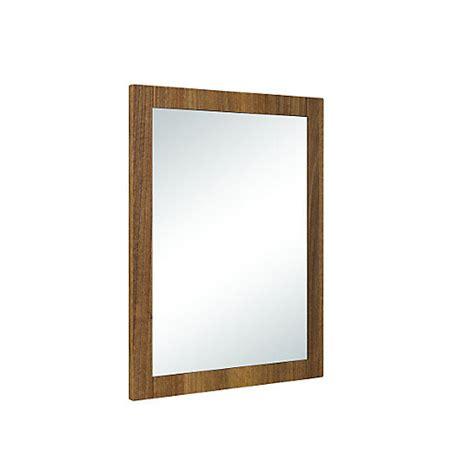 Wickes Bathroom Wall Mirrors Wickes Frontera Rectangular Framed Bathroom Mirror Walnut