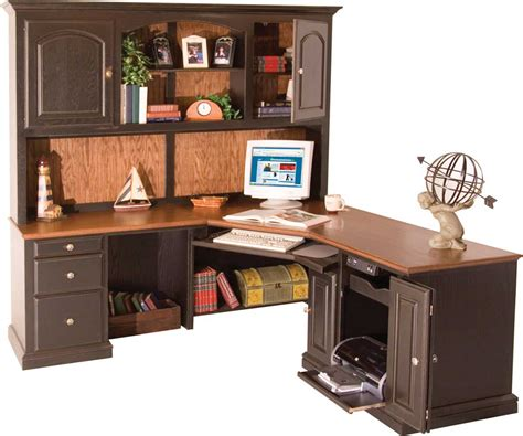 Corner Desk And Hutch Oak Corner Desk For Home Office Improvement