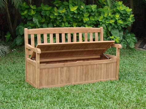 garden storage bench uk 5 feet outdoor patio teak garden bench w storage box