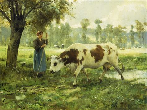Knight Home Decor by Cows At Pasture Painting By Julien Dupre