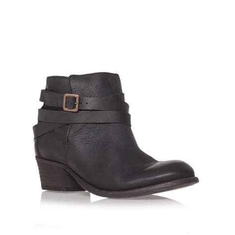 h by hudson horrigan black low heel ankle boots in black