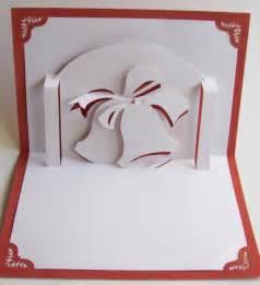 Christmas bells pop up greeting card home d 233 cor 3d handmade cut by