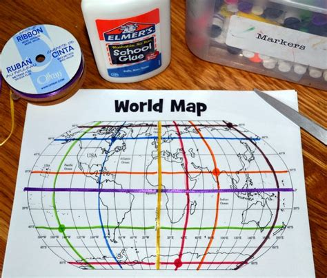 printable world map equator mapping activity teaching about coordinates longitude