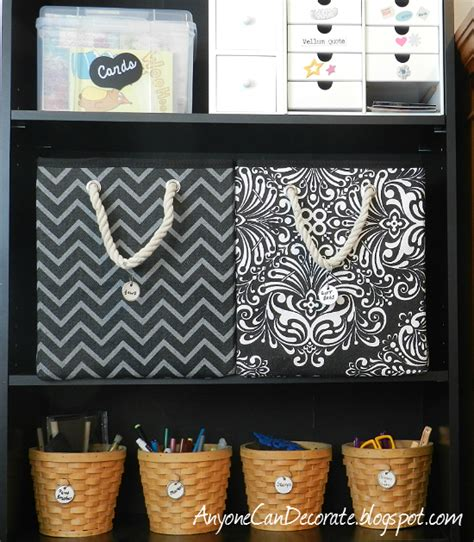 room storage bins anyone can decorate craft room organizing storage bins