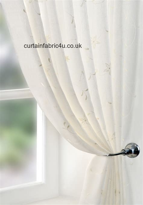 width of fabric for curtains seville ivory voile 140cm width by pavilion curtain fabric