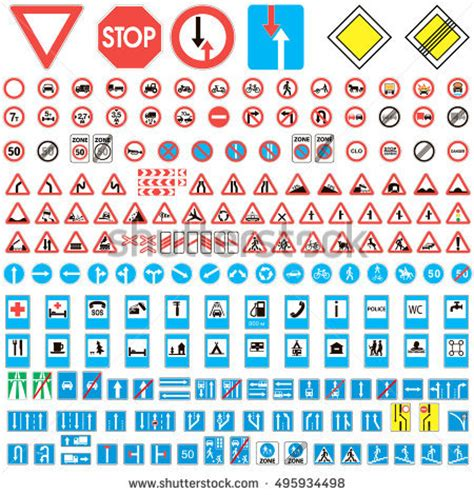 printable european road signs royalty free european traffic signs collection