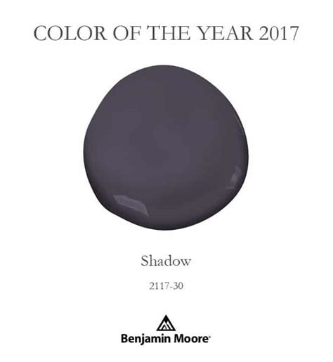 color of year benjamin moore shadow color of the year 2017 setting