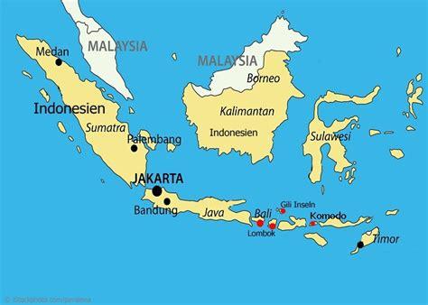 insel bali indonesien karte kleve landkarte