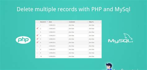 Removing Records Delete Records With Php And Mysql Thesoftwareguy