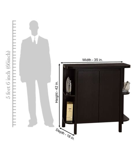 Compact Bar Cabinet Black Forest Compact Bar Cabinet With Side Shelves By Mudra Cabinets Furniture