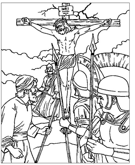 coloring pages jesus crucified free printable friday coloring pages cool christian
