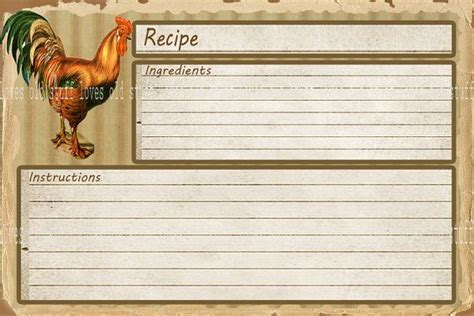 avery 4 x 6 recipe card template 8 best images of printable vintage recipe cards 4x6
