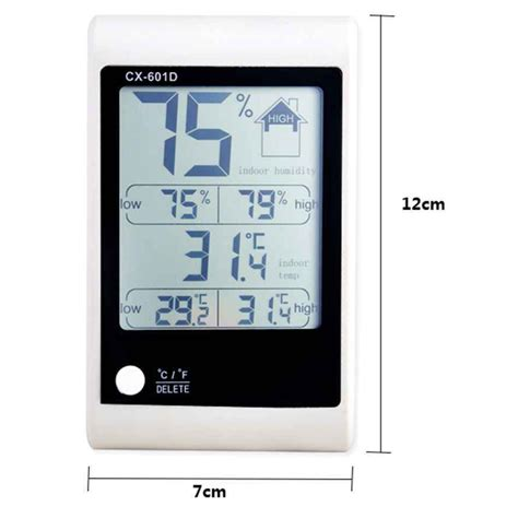 led weather station thermometer cx 601d white jakartanotebook