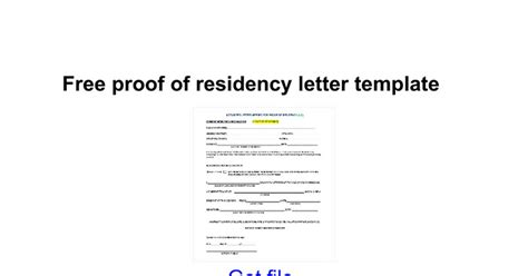 proof of residency letter template from landlord proof of residency letter from landlord free