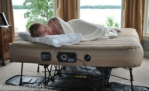 portable folding twin size air mattress guest  bed ebay