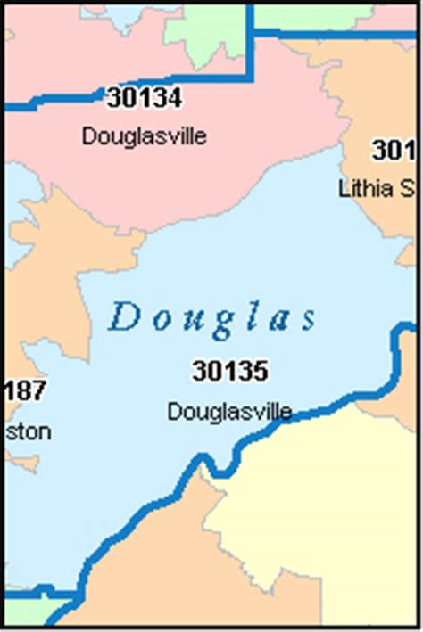 Douglas County Ga Search Douglas County Digital Zip Code Map