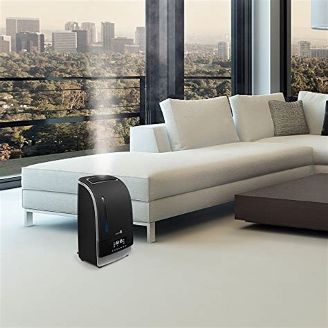 homeleader air humidifier for bedroom 1 6l cool mist warm cool mist humidifier with led display taotronics