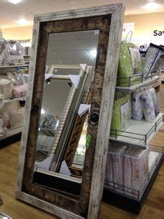 modern rustic wood floor mirror home goods