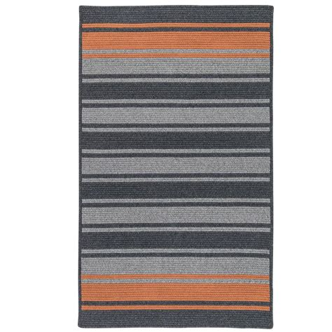 murray rugs home decorators collection murray stripe charcoal rust 6 ft x 9 ft braided area rug