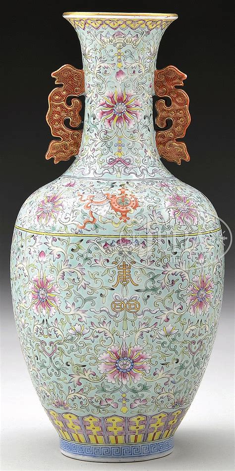 Chrysanthemum Vase by Chrysanthemum Porcelain Vase