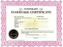 Jokes about marriage licenses