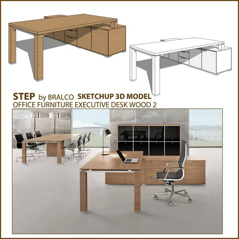 sketchup layout table free sketchup 3d model office wood executive desk jet