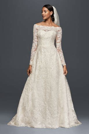 Non Designer Wedding Dresses by The Shoulder Lace A Line Wedding Dress David S Bridal