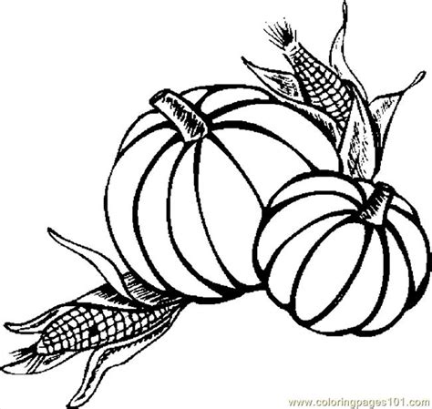 thanksgiving pumpkins coloring pages pumpkins corn coloring page free thanksgiving day
