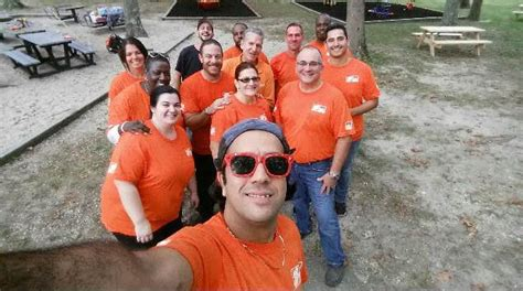 home depot employees clean up wading river park